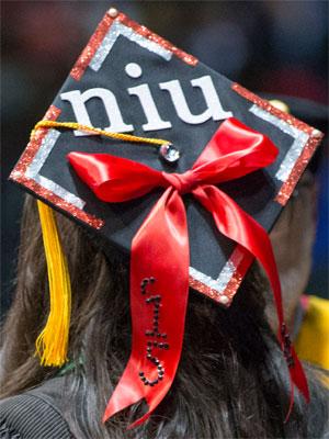 NIU graduation cap