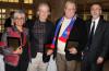 Professor Elvia Arriola, Associate Dean Dave Gaebler, Professor Dan Reynolds and Interim Dean Mark Cordes