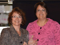 Nancy Hanlon Harrison (left) and Econ IL Governing Board Chair Pamela C. Piarowski