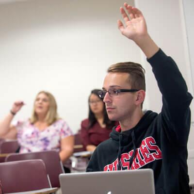 student-raised-hand