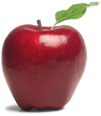 Photo of an apple