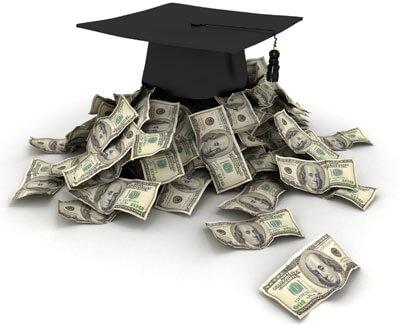 Money and a graduation cap