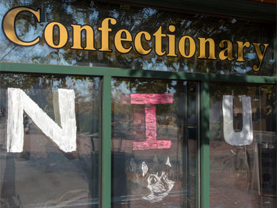 Paint the Town 2015: NIU and Victor E. Huskie at the Confectionary