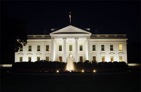 White House at dark