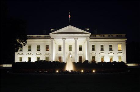 White House at dark