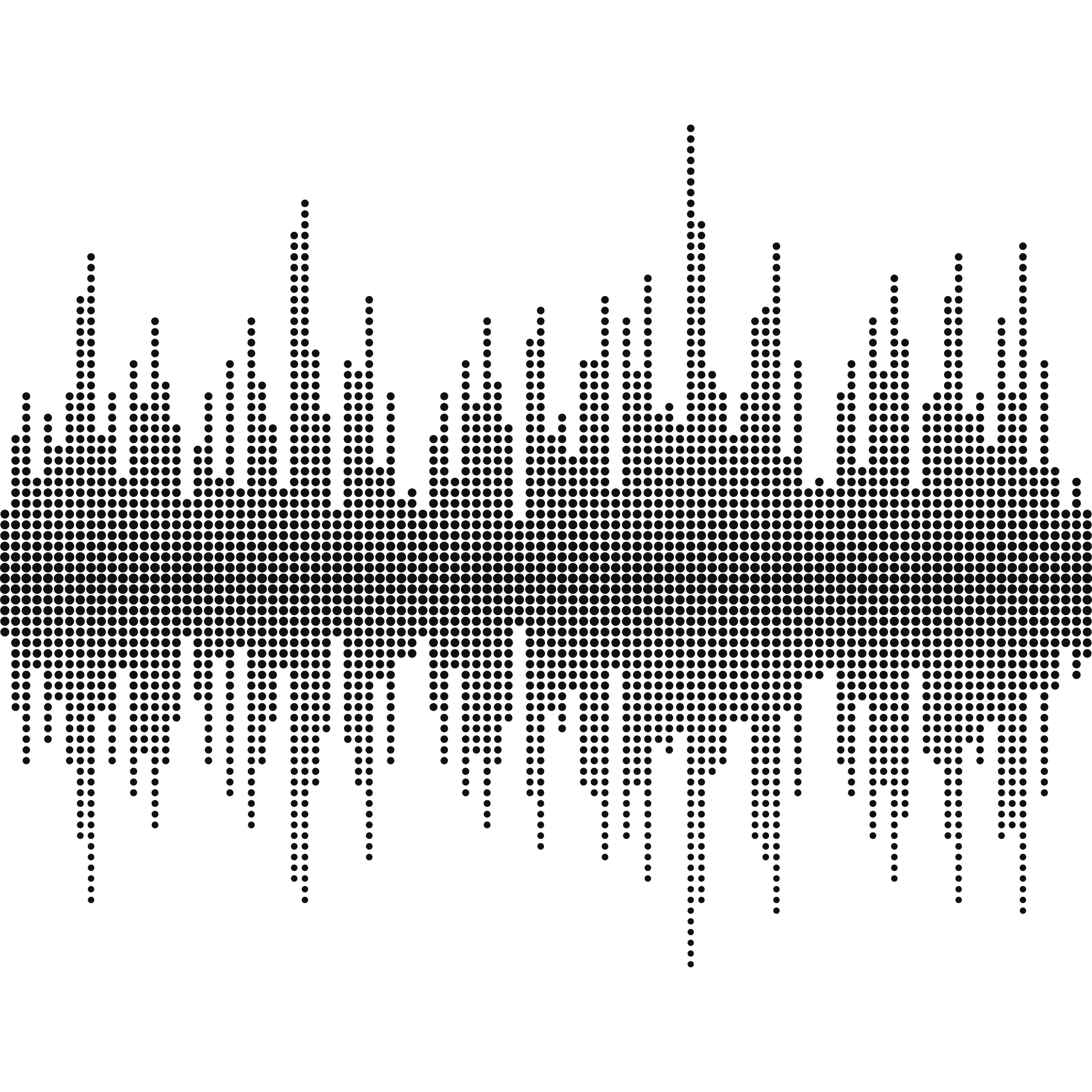 Sound wave halftone effect vector
