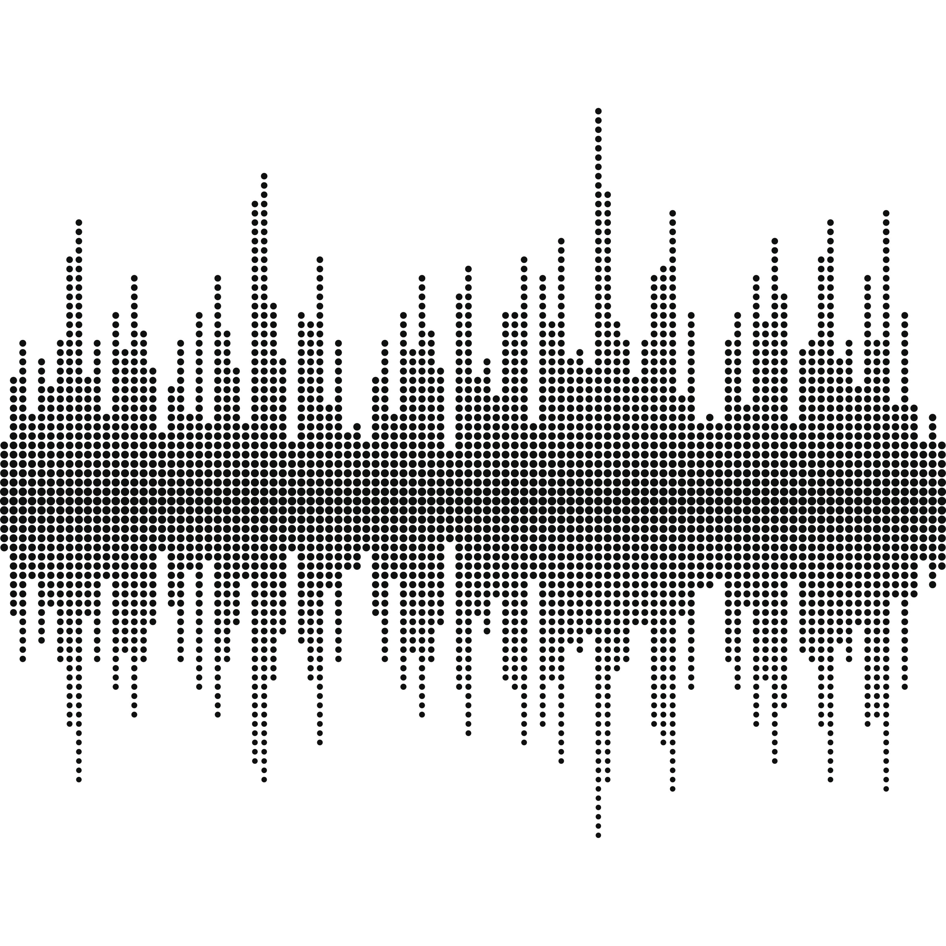Sound wave halftone effect vector
