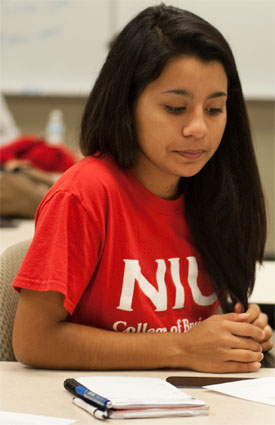 An NIU College of Business BELIEF Program student