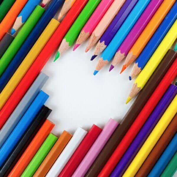 Pencils and heart