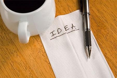 Idea on a napkin