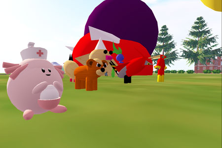 A screen capture from this summer's 3D Video Game Design camp.