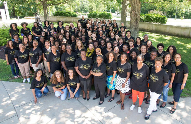 Professor Yolanda King (front row, far left) with the rest of the educators at the 2016 Lutie Lytle Black Women Law Faculty Writing Workshop.