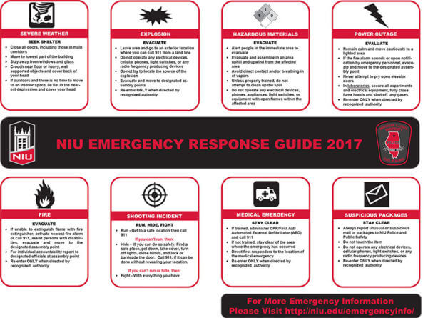 The 2017 NIU Emergency Response Guide can be downloaded at http://go