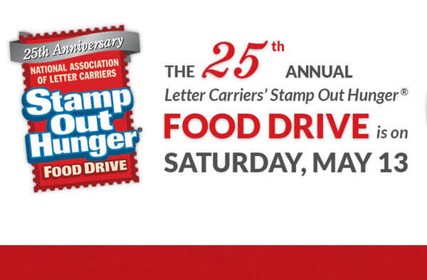 national association of letter carriers postal carriers partner with niu to stamp out hunger on 206